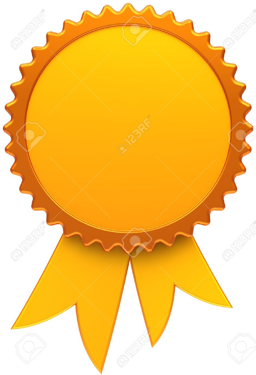 9445769-Award-ribbon-golden-blank-Medal-icon-of-winner-with-copy-space-template-design-element-This-is-a-hig-Stock-Photo
